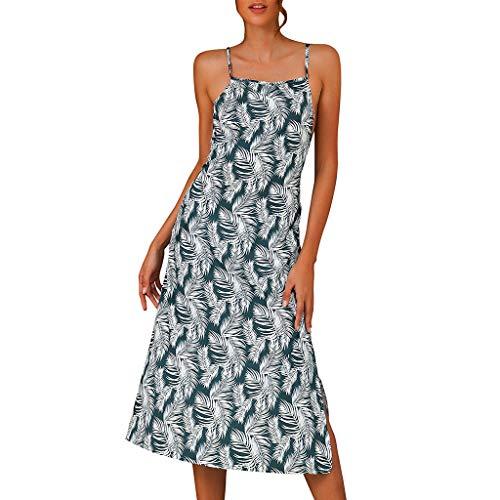 r Lang Elegant Mode gekräuselten Urlaubshose gestreiften Print Overall Overall Beach Romper Grün M ()