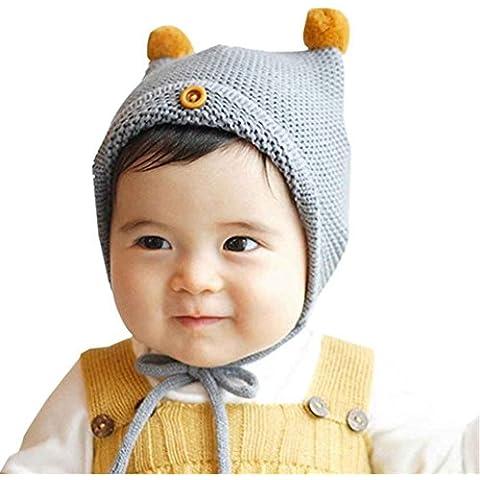 DAYAN Carino del bambino del capretto ragazze dei ragazzi a maglia Cappello invernale cappello caldo