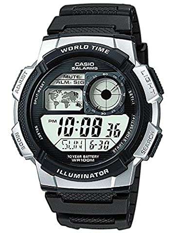 Casio Herren-Armbanduhr Sports Digital Quarz Schwarz