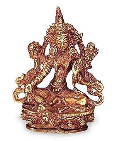Tara verte ou dölma Statue Figurine en laiton Hauteur 11cm Dieu des femmes en Asie