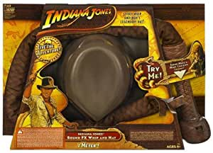 Indiana Jones Deluxe Hat and Whip with Sound
