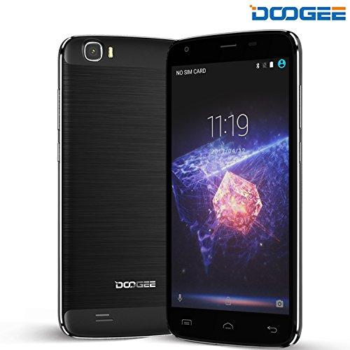 Móviles y Smartphones Libres, DOOGEE T6 Pro Teléfono Móvil Libre Baratos - 5.5 Pulgadas HD Pantalla - MT6753 Octa Core 1.5GHZ - 3GB RAM + 32GB ROM - 5MP + 13MP Cámara - Dual SIM 4G OTG - Android 6.0 - Batería de 6250mAh Fast Charge (Negro)