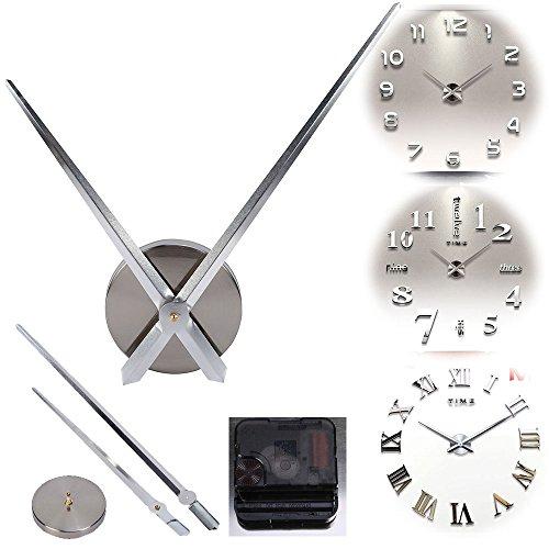 Alicemall Mouvement Mécanisme Horloge à Quartz 2 Aiguille Pour Pendule Murale Argenté