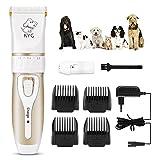 Cortapelos para Perros/Mascotas eléctrico bajo Ruido y vibración - Kit de cortapelos Profesional para Perros y Gatos con 4 peines(3/6 /9/12 cm) Ajustable para distinto Pelo