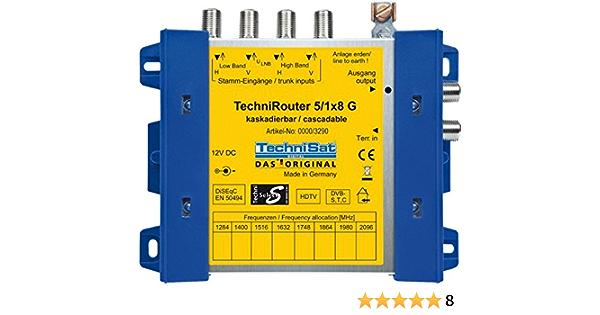 Technisat 0000 3290 Techni Satellite Router 5 1x8 G Elektronik