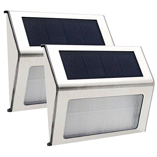 ANOLE LED 2x Solar Licht Solar Außenwandleuchten Treppenlampen Sonnenschirmbeleuchtung Automatischen Arbeits für Treppen, Pfade, Gärten, Briefkästen, Decks, Docks und Zäune.