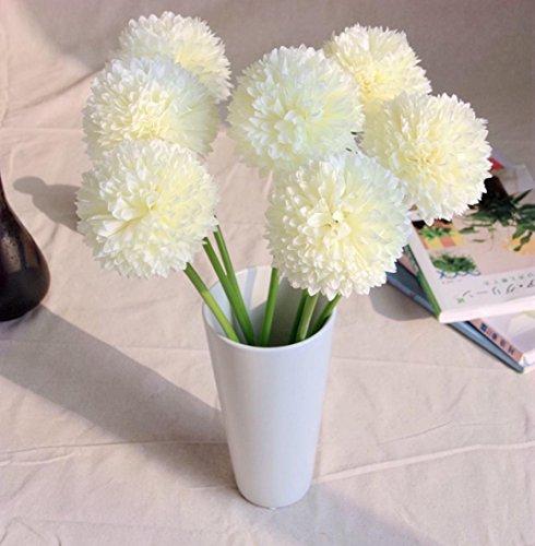 Longra Wohnaccessoires & Deko Kunstblumen 5pcs Lavendel Ball künstliche Seide Blumen Blumenstrauß Home Hochzeit Party Dekoration Künstliche Fake Blume
