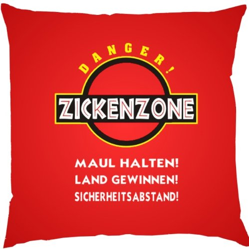 Zickenzone ...Cooler Geschenktip!!! Deko-/Sofakissen! 40 x 40 cm Farbe: rot