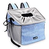 Pecute Hundetasche Haustiertasche Rucksack Für Hunde und Katzen Fahrradtasche Hund Autotasche Für Hunde mit Tragbar Atmungsaktiv und Faltbar