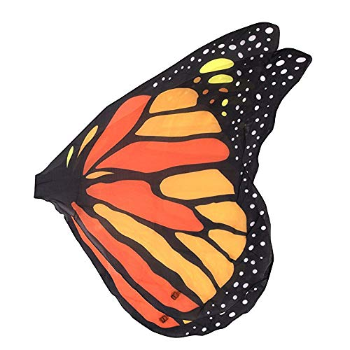 Kinder Kostüm Butterfly Wings - Jaysis Faschingskostüme Kinder Damen Schmetterling Flügel Kostüm Butterfly Wing Cape Erwachsene Kimono Schal Cape Tuch 140 * 70CM