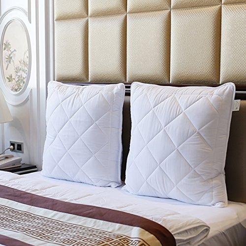 2er Set Kopfkissen 80x80 Microfaser Schlafkissen Hohlfaser Kissen Weiß von Beier Textile