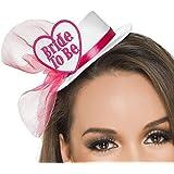 Hut mit der Aufschrift BRIDE-TO-BE oder HEN-PARTY mit Brautschleier Accessoire Junggesellenabschied