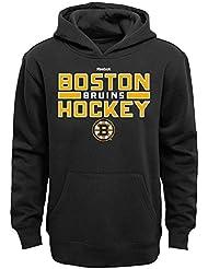"""Boston Bruins Youth Jeunes NHL Reebok """"Hometown Pride"""" Hooded SweatShirt Chemise"""