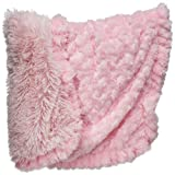 Legitimutt Rosette Shag Dog Cuddle Blanket, X-Small, Pink