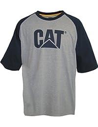 Caterpillar Mens Trademark Contrast Raglan T Shirt Yellow