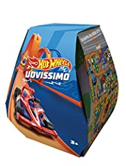 Idea Regalo - Hot Wheels, Uovissimo 2019, Uovo di Pasqua con sorprese, GLJ91