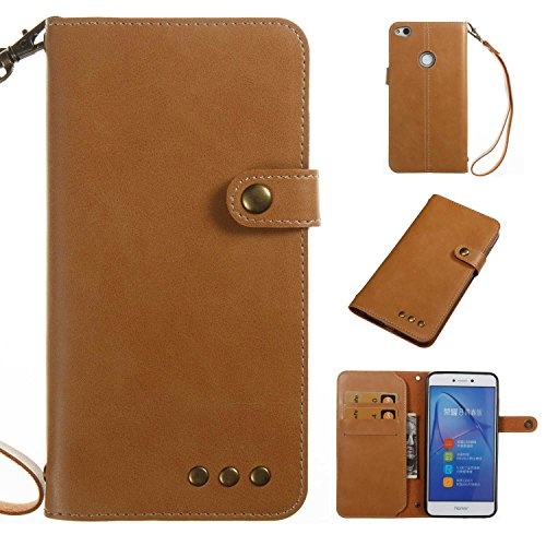 Huawei P8 Lite 2017 Case, BRAVODE [Rivets Style]Huawei P8 Lite 2017 Leather Case[Pure Color][Advanced Cropping][Card Slots/ Magnetic Closure/Stand Function]Huawei P8 Lite 2017 Case Wallet [Premium PU] Huawei P8 Lite 2017 Leather Flip Wallet Cover for Huawei P8 Lite 2017