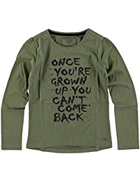 Cooles LA Shirt in Army Green mit schwarzem Glitzer Print von CARS Jeans f519e44491
