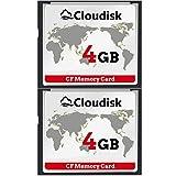 2pcs Prestazioni della scheda di memoria CF Compact Flash da 4 GB per fotocamera digitale vintage (4GB)