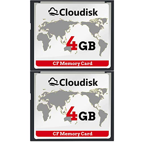 Cloudisk 2X CF-Karte Compact Flash 4 GB Speicherkarte Leistung für Vintage Digitalkamera (2pcs 4gb) 2 Compact Camera Case