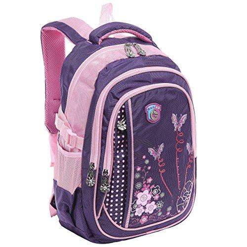 45,7cm Mädchen Schmetterling Student Schule Buch Tasche//Kinder Rucksack, Violett - violett - Größe: M
