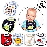 Bavoir bandana, Yosemy [6 PCS] Bébé Bavoirs Imperméable Grand Bavoir Protéger les Vêtement des Bébés Bavoir Pour Bébé Bandana Enfant Bébé Fille et Garçon