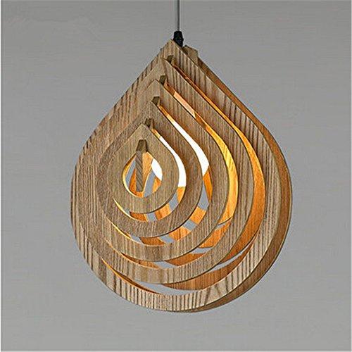 odernes 1 Kopf hölzern hell hintergrund kreativ kulissen licht profilstahl räume zuhause Dekor innen,30 * 37cm ()