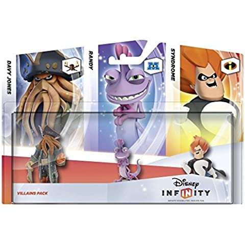 Disney Infinity - Pack 3 Figuras Villanos: Davy Jones, Randall, Syndrome