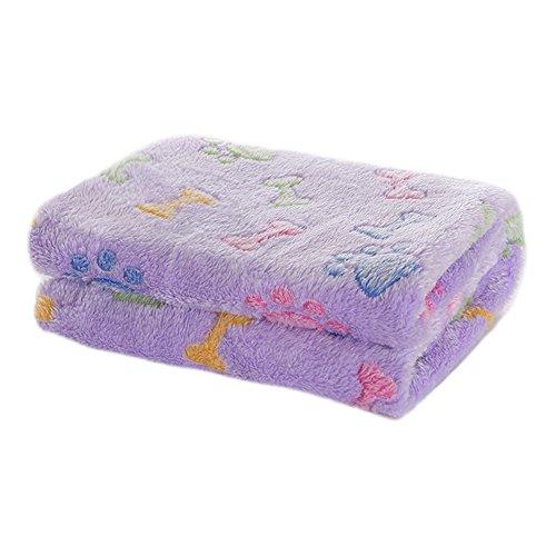 Beige Bedruckt (Allisandro Jumbo Super Softe und Warme Fleece-Decke /Schlafdecke mit Bunten Knochen und Tatzen Bedruckt Beige)