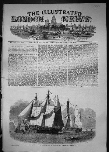 1849 Unternehmens-Forscher-Schiffe Kapitän-James Ross Arctic Expedition