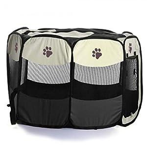 Caisse De Transport Pliable Parc Portable Pour Animaux Chien-Café S