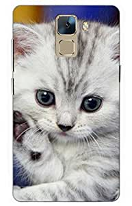 iessential cat Designer Printed Back Case Cover for Huawei Honor 7