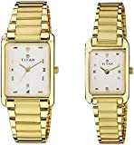 Titan Bandhan Analog White Dial Pair Watch - NC531193YM05