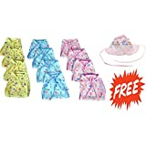 Reusable Cotton Cloth Printed Diaper/Langot/U Shape Nappy For New Born Baby (0-9 Months Pack Of 12) + FREE CAP