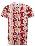 Funny World 70er Platte Retro Herren Retro-T-Shirt (L, Rot)