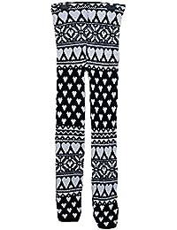 New womens snowflake reindeer knitted Christmas leggings ladies warm thermal printed winter casual Xmas legging size 8-14