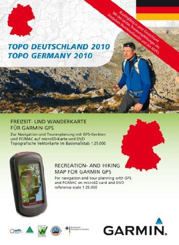 Garmin Topo Deutschland Süd 2010 - Freizeit- und Wanderkarte für GPS Geräte auf DVD und microSD (Süd-microsd)