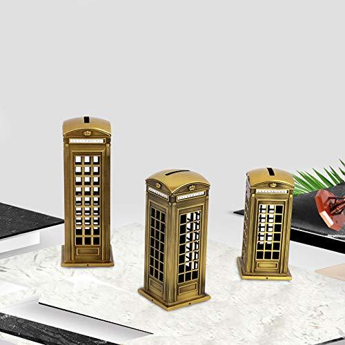 SMAQZ Telefonzelle - Europäische Und Amerikanische Dekoration Ornamente Bronze 6,5 cm * 6,5 cm * 18 cm -