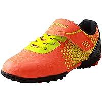 Tiebao Enfant Garçon Dur Terre Athlétique Intérieur Crochet&Boucle Chaussures de Football