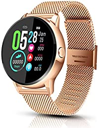 Smart Watch, EIVOTOR Fitness & Activity Tracker Touch Screen Bluetooth Smartwatch, IP68 Waterproof Sports Watch with Heart Rate Pedometer Step Counter Sleep Monitor for Men Women Android & iOS