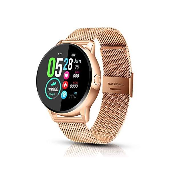 EIVOTOR Reloj Inteligente & Smartwatch Deportivo con Pulsómetro,Cronómetros,Calorías,Monitor de Sueño,Podómetro para… 1