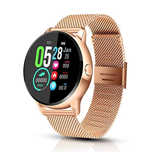 EIVOTOR Smart Watch Sport Fitness Activity Tracker Pulsera Pantalla conectada Touch Podometer Climate...