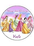 Disney Princess 19,1cm rund Essbar Geburtstag Kuchen Topper