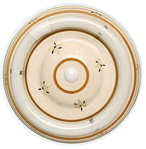 107/32/S/MA - Plafón cerámica circular marrón, Reactancia ELECTRÓNICA, SIN TUBO - 32W