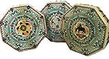 Terrpain Trading Fiera 10 Sided Mano Native American Style Mano Tamburello Drum & Bastone