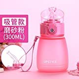 LKJH* Kreative Kinder Schüssel Wasser Wasserkocher Grundschüler in einem handlichen Kunststoffbehälter Frauen dichten Wasserflasche Tassen, Scheuermittel -300ML (Tube)