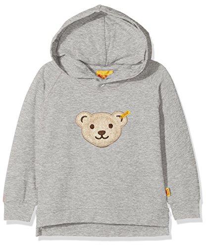 Steiff Baby-Jungen Sweatshirt 1/1 Arm, Grau (Snow Grey Melange|Gray 8359), 86