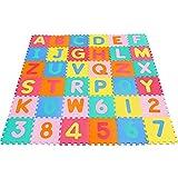 Yorbay Puzzlematte TÜV geprüft  EVA Schadstofffrei Kinderspielteppich Spielmatte für Kinder-Garden EVA 36 (86 Stück.)