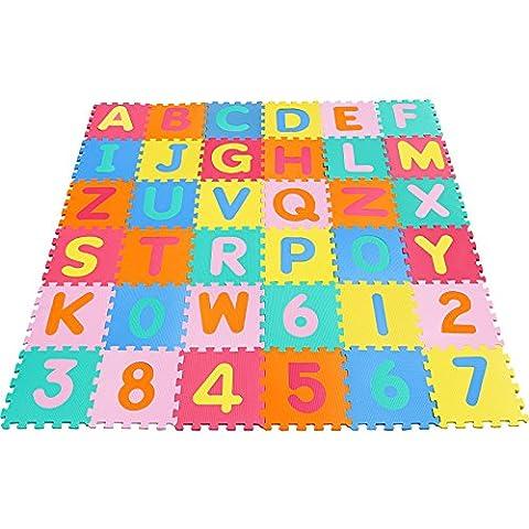 Yorbay Puzzlematte Kinder-Garden EVA 36 Matten (86 tlg.) Puzzlematten Puzzleteppich Bodenmatten Bodenpuzzles Zahlen und