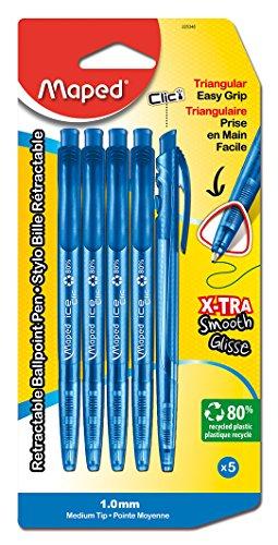 Maped Helix USA Roll-Dreikant Kugelschreiber blau, Acryl, mehrfarbig, 6-teilig